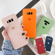Candy Love Heart Pattern Soft Silicone Cover Case for Samsung Galaxy S10 Lite S9 S8 Plus S7 S6 Edge Note 9 8 S10E Phone Cases(China)