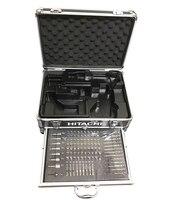 Япония HITACHI зарядки Сверла Набор инструментов с 100 шт. комплекты электрическая роторная драйвер рукав Мощность инструмент, аксессуары