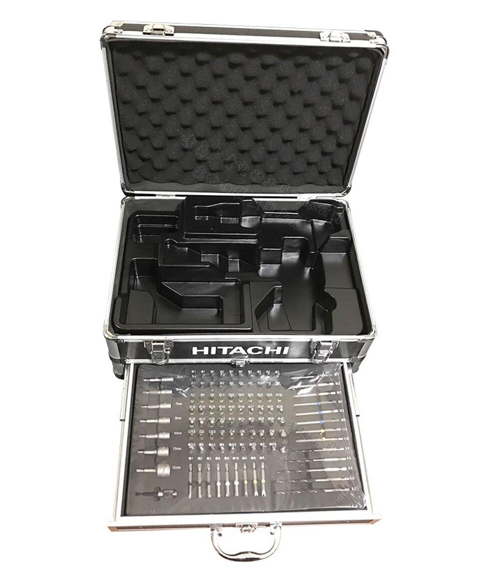 Япония Hitachi зарядки Сверла Набор инструментов с 100 шт. Наборы для ухода за кожей электрическая роторная драйвер рукав Аксессуары для электро