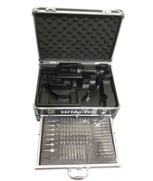 Hitachi Япония зарядка Сверла Набор инструментов с 100 шт. наборы Электрический ударный драйвер рукав электроинструмент аксессуары