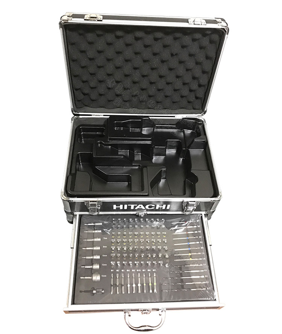 Japan HITACHI Charging Drill Bits Tool Kit with 100 PCS Sets Electric Impact Driver Sleeve Power Tool Accessories