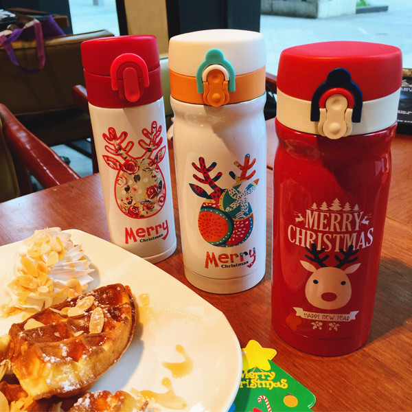 Genuine 2016 Costa Christmas Elk Thermos For Starbuck Coffee