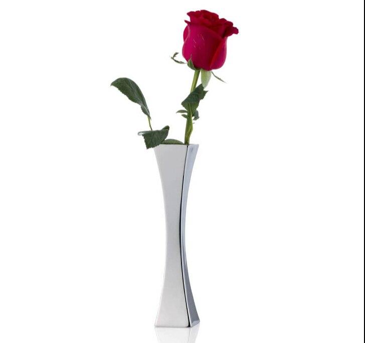 acero inoxidable con estilo moderno de talle alto florero peona florero lirio saln de estilo europeo