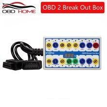 2020 obdii obd2 breakout box carro obd 2 quebrar para fora caixa detector de protocolo do carro auto pode testar caixa conector automotivo carro-detector