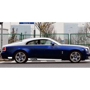 Image 5 - 2 uds pegatinas laterales de coche vinilo raya larga calcomanías para coche DIY pegatinas de cuerpo productos de coche 225*11,5