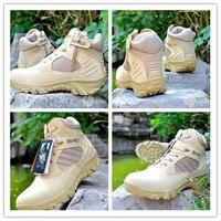 جيد بيع الرجال أحذية رياضية تنفس التخييم الصيد التكتيكي القتالي الاثقال التدريب العسكري الأحذية أحذية الصحراء تان
