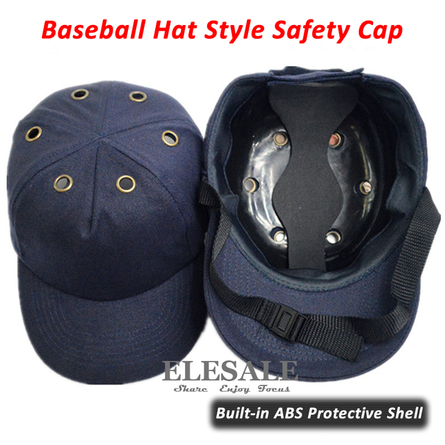New Bump Cap Work Safety Helmet Baseball Hat Style Protective Safety Hard Hat For Work Site Wear Head Protection Deep Blue