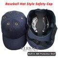 Nueva Bump Cap Trabajo Casco de Seguridad Sombrero de Béisbol Estilo Protectora Protección de La Cabeza Casco de seguridad Para Obra Desgaste Profundo azul