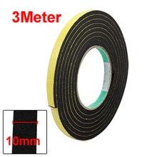 Uxcell 3Meter 1PCS Single-side Sponge &  EVA Adhesive Shockproof Foam Tape Insulation Yellow Black 3Sizes Hot Sale