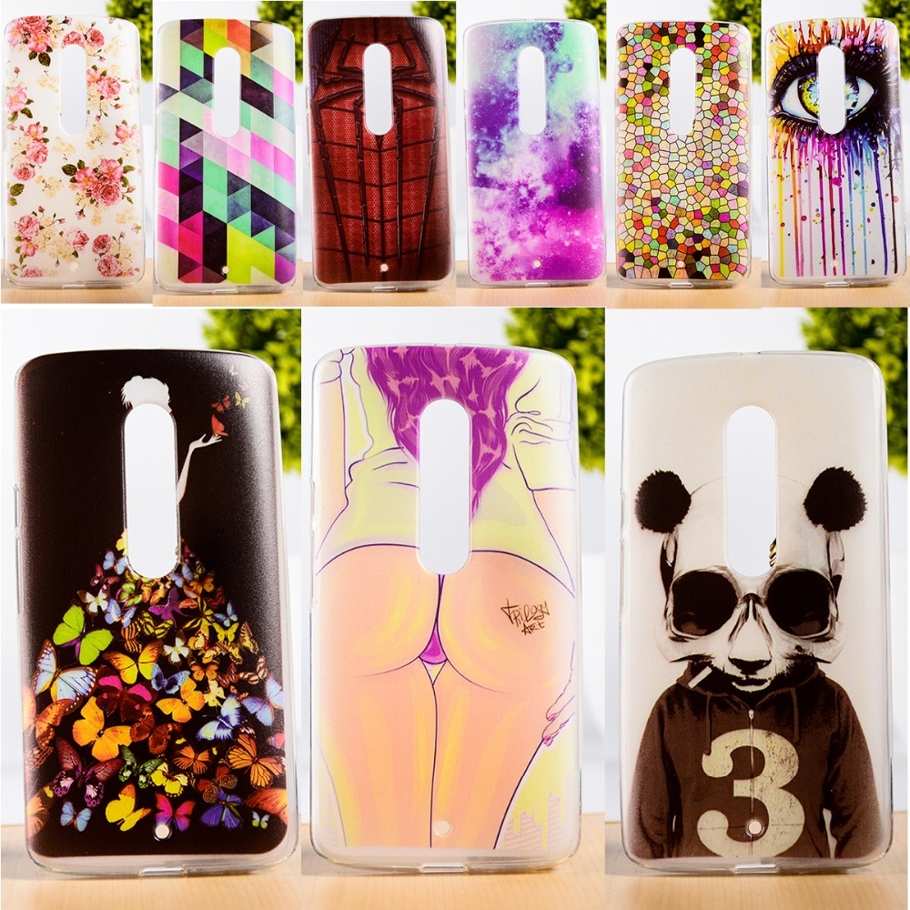 DIY Painted Soft TPU & Hard Plastic Phone Case For Motorola Moto X3 Lux X Play Cell Phone Cover Anti-Knock Function Phone Skins