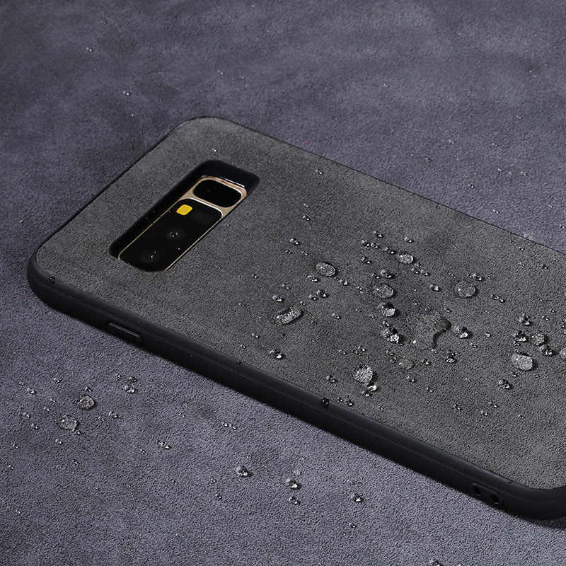 LANGSIDI العلامة التجارية جميع اليدوية حقيقية الفراء الهاتف حالة لسامسونج A5 مريحة اللمس شامل الهاتف حالة
