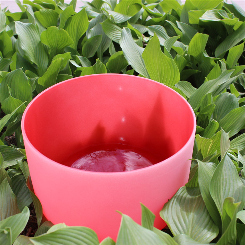 9''11'' 2pcs frosted quartz crystal singing bowls with