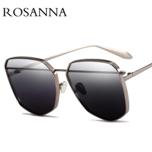 ROSANNA 2019 Classic Simple Cat Eye Sunglasses Women Brand Design Vintage Pink Gradient Glasses Retro Cat eye Sun glasses Female поднос декоративный rosanna glasses