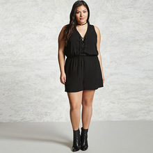 Summer Lace up V-Neck Women's Jumpsuit