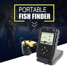 LUCKY 100FT Wired Fish Finder Echo Sounder Monitor Detector Portable Sonar Fish Finders 30 M Depth for Sea Pesca FF717
