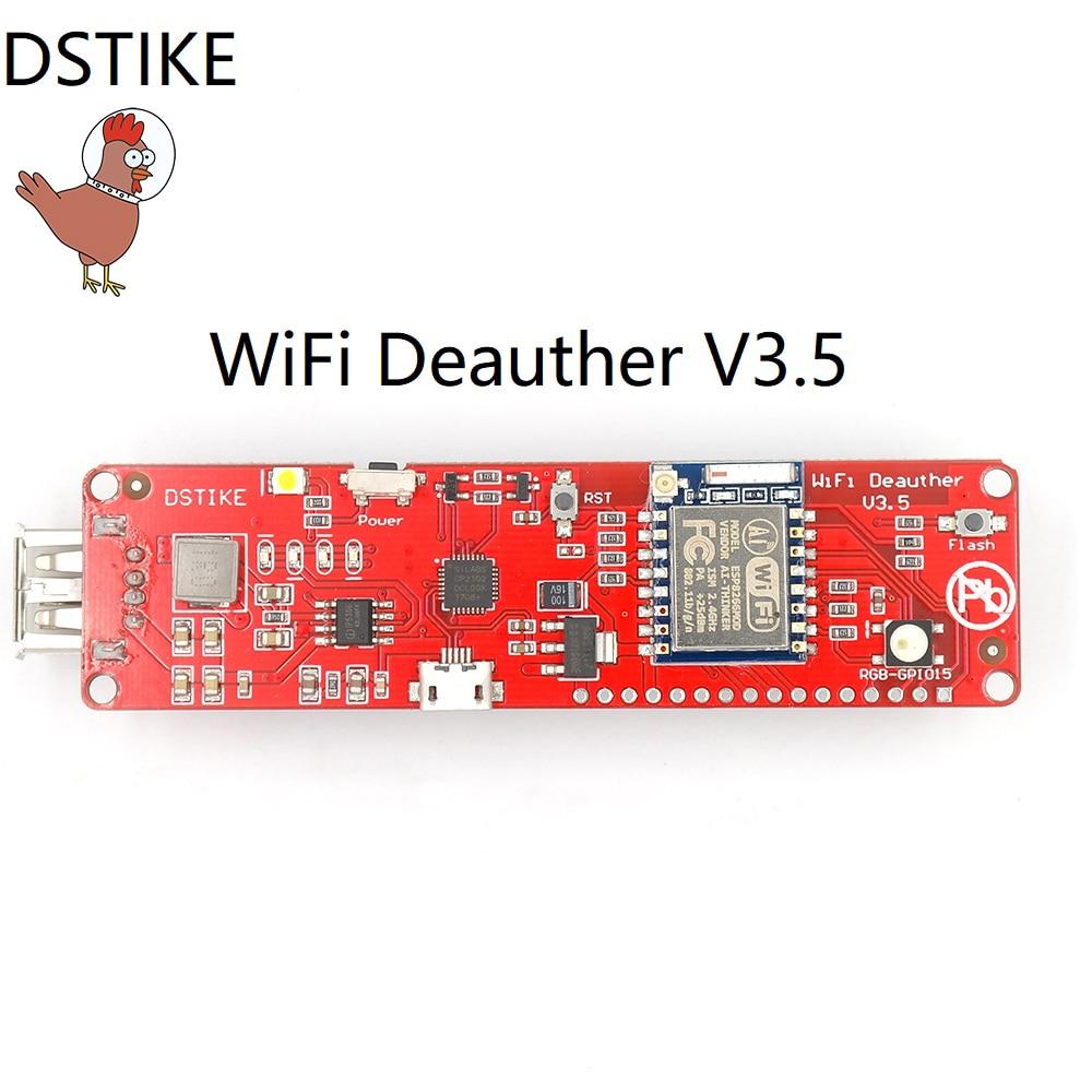 DSTIKE WiFi Deauther V3.5 (ESP8266 + 2dB antenne) WiFi Attaque/Contrôle 18650 Powerbank 2A Sortie NodeMCU Développement Kit ESP07 ESP32