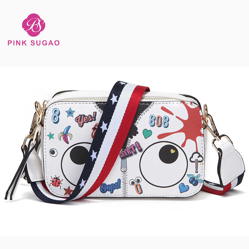 9eb4b2fab8 Pink sugao designer women shoulder bag luxury cartoon cute messenger bags  new fashion big eye mini