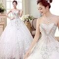 2017 роскошные сексуальные кристаллы старинные свадебные платья халат свадебные платья на заказ милая узелок плюс размер