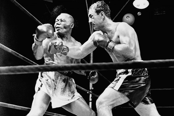 Warrior boxing fight black white people 4 sizes home decoration canvas poster print