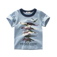 Boys T-Shirt Clothing Short Sleeves Dinosaur Cotton Children Summer Cute Kids Toddler Clothes Tee 2-9  Years отсутствует мы – дети войны сборник