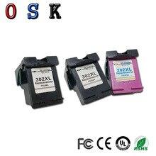 OSK 3PC 302XL Compatible For HP302XL ink cartridges for HP Deskjet 1110 1111 1112 2130 2131 2132 3630 printer