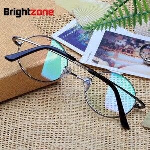 Image 2 - Brightzone טהור טיטניום לשחזר דרכים עתיקות משקפיים מסגרת איש אופטיקה קוצר ראייה משקפיים מעגל מסגרת גברתי משקפיים מסגרת E 8018