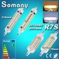110 V 220 V Silicone J78 J118 R7S 3014SMD 10 W 78mm 118mm 10 W 15 W LED Horizontal Plug Luzes de Inundação Luz de Milho Lâmpada Lâmpada Spotlight