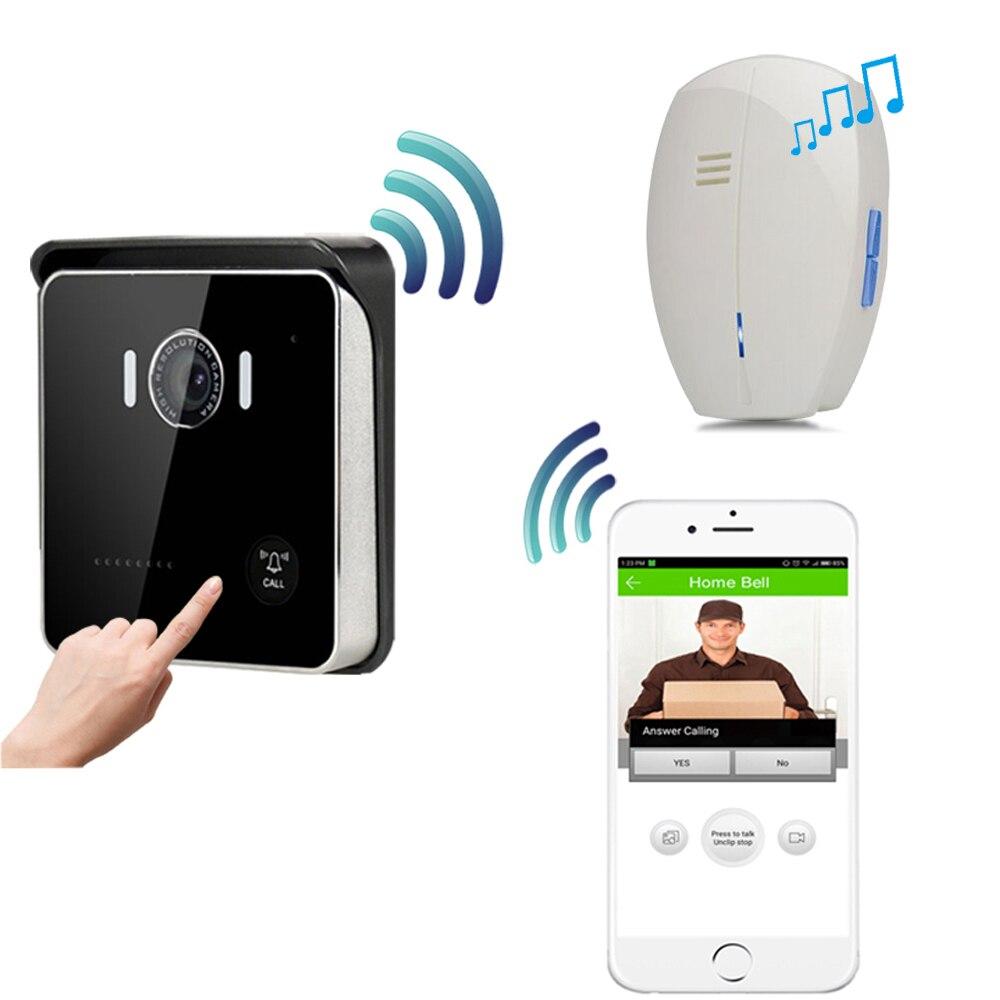 CUSAM Wireless Smart WIFI Video Doorbell Intercom Door Phone Bell Chime HD 720P Camera Night Vision