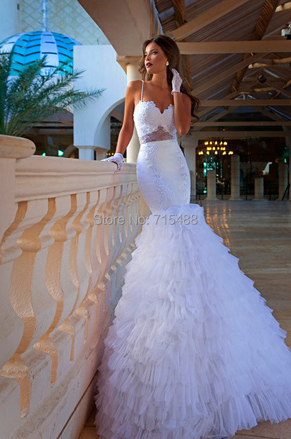 Whole Y Spaghetti Strap Mermaid White Indonesia Bridal Gown Ebay China Custom Made Alibaba Sharara