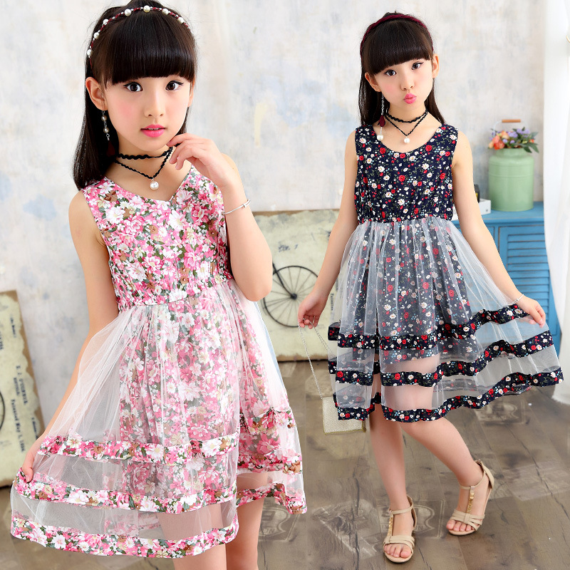 Kids Baby Summer Flower Floral Lace Mesh Tutu Dresses For Girls 2018 New Children Clothes Princess Dress 5 7 9 11 8 13 Years baby girls white dresses for wedding and party wear girl princess dress kids lace clothes children costume age 3 4 5 6 7 8 9 10