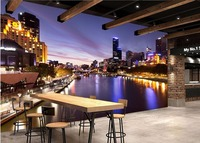 Custom Mural 3d Wallpaper Picture City At Night Room Photo Wall Paper Decor Painting 3d Wall