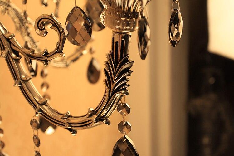 Moda crystal wall sconce illuminazione muro di candela romantica