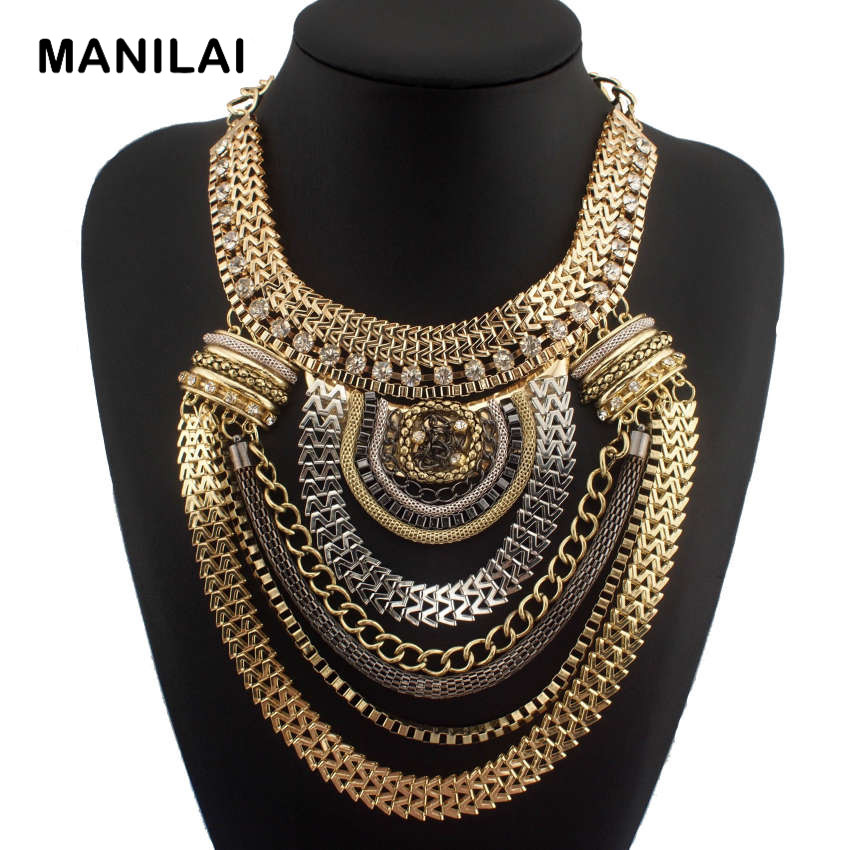 Manilai fashion brand jewelry evening dress accessories for Costume jewelry for evening gowns