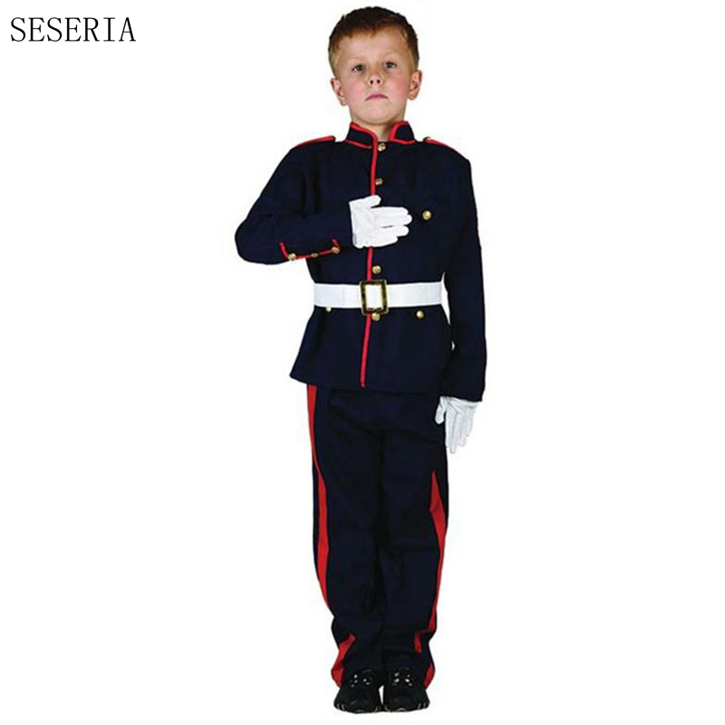 SESERIA Children's Day Costume Russian Guard Soldier Cosplay Kids Boy Halloween Children Costumes