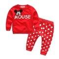 Bebês roupas de bebê das meninas dos meninos camisa de algodão fatos de treino + calças 2 pcs crianças menino roupas Crianças conjunto de roupas
