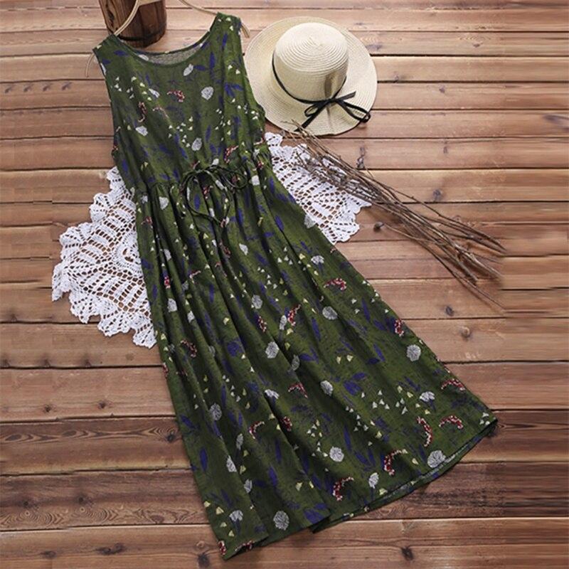2019 Lossky Neue Frauen Sexy Sommer Kleid Ärmel Vintage Print Maxi Kleid Frauen Strand Kleid Vestidos L3 Reichhaltiges Angebot Und Schnelle Lieferung