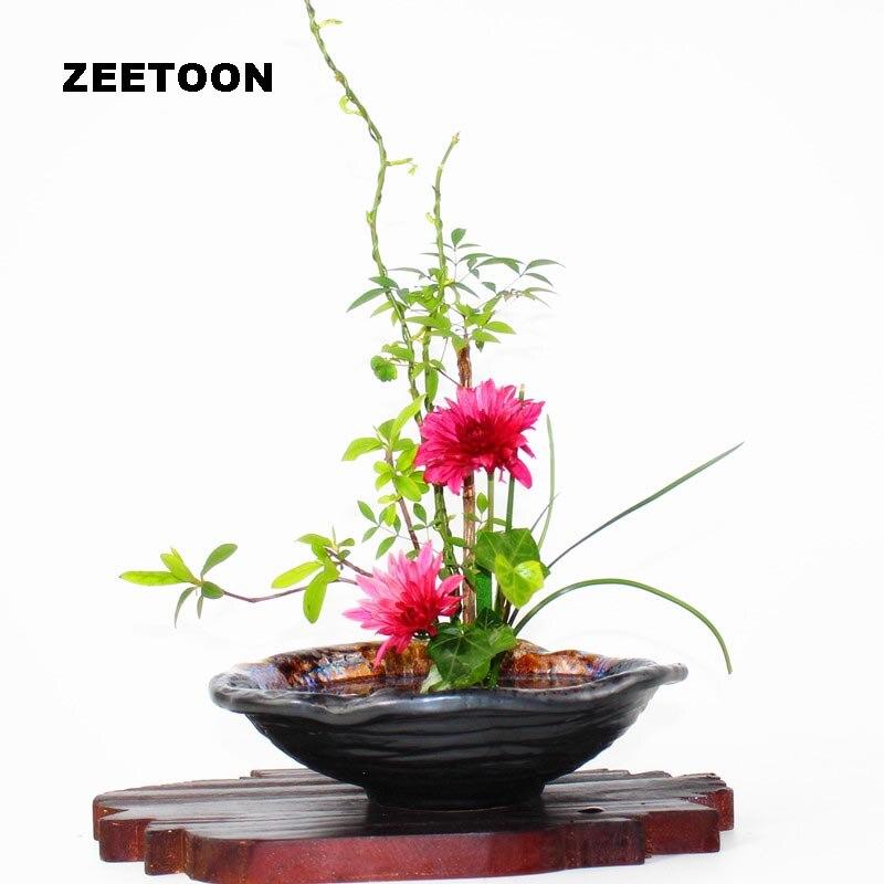 Japonais hydroponique jardinières bol grossier poterie bassin en céramique conteneurs Pot de fleurs classique Pot de fleur Vintage Vase décor à la maison