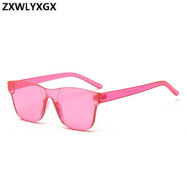 08d1933272f New Fashion Rimless Vintage Mirror Sunglasses Women Luxury Brand Original  Design Sun Glasses square sea candy color trend