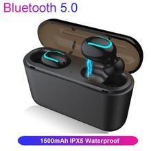 Bluetooth 5,0 наушники Q32 СПЦ Бас-гарнитура Hi-Fi стерео Портативный наушники Водонепроницаемый IPX5 Беспроводной наушники-вкладыши для iPhone