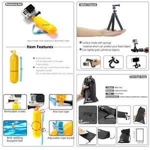 Image 5 - SnowHu for Gopro Accessories Set For Gopro hero 7 6 5 Waterproof case Protection Frame monopod for Go pro hero 7 6 5 GS73