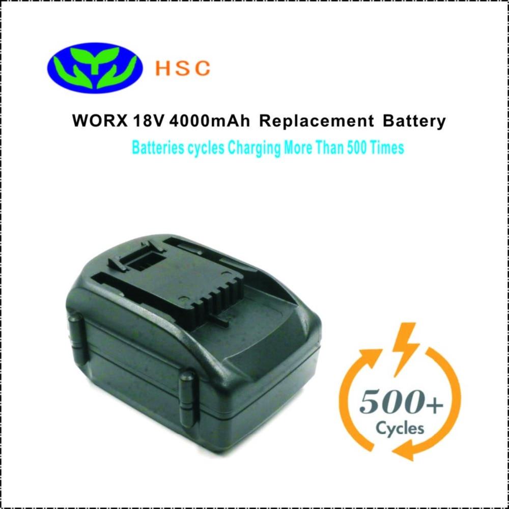 WOX18A2 4000mAh 18V Li ion Battery Replacement WORX WA3512 Original Battery