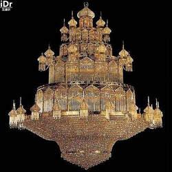 Золотые люстры хрустальные Лампа Золотой светильник большой люкс кристалл лампы роскошный отель лобби 300 см Ш x 400 см H