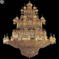 gold Chandeliers crystal lamp gold lamp large luxury crystal lamp crystal lamp luxury hotel lobby 300cm W x 400cm H