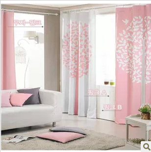 mode koreanischen stil ployester verdunkelungsvorhang rosa. Black Bedroom Furniture Sets. Home Design Ideas