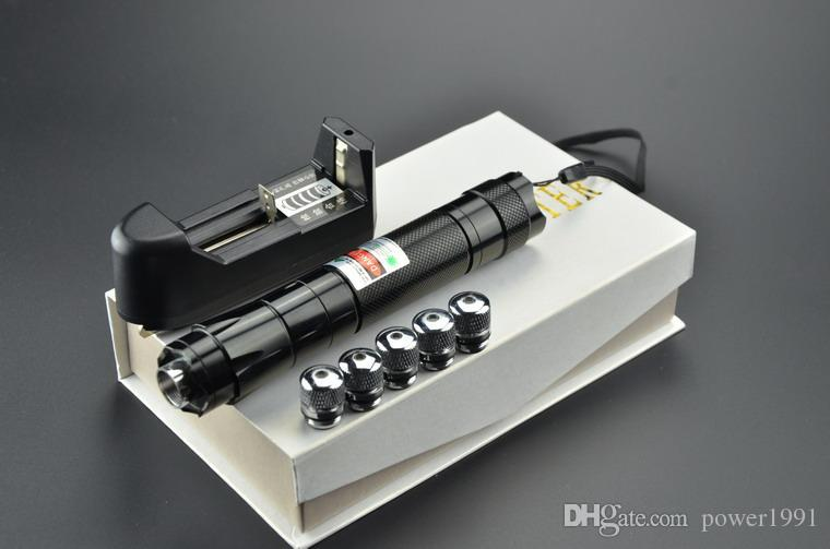 high power 10000mW 10w 532nm green laser pointer flashlight / burning laser torch focus burn matches