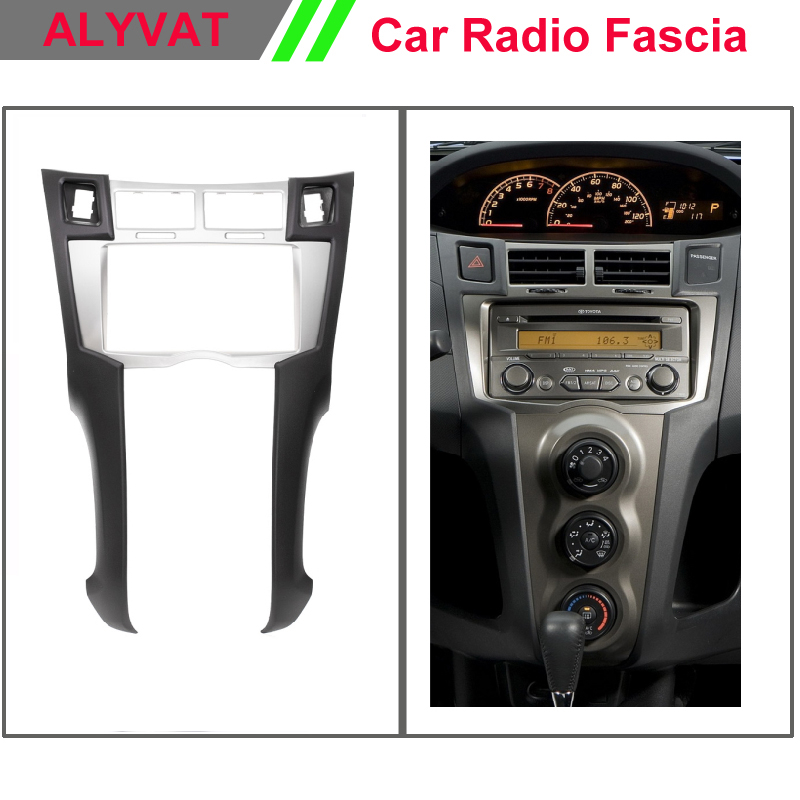 Auto radio Car Fascia surround install trim installation 2-DIN dash kit for TOYOTA Yaris Vitz Platz 2005-2010 (Silver) calgary stampeders at bc lions preseason