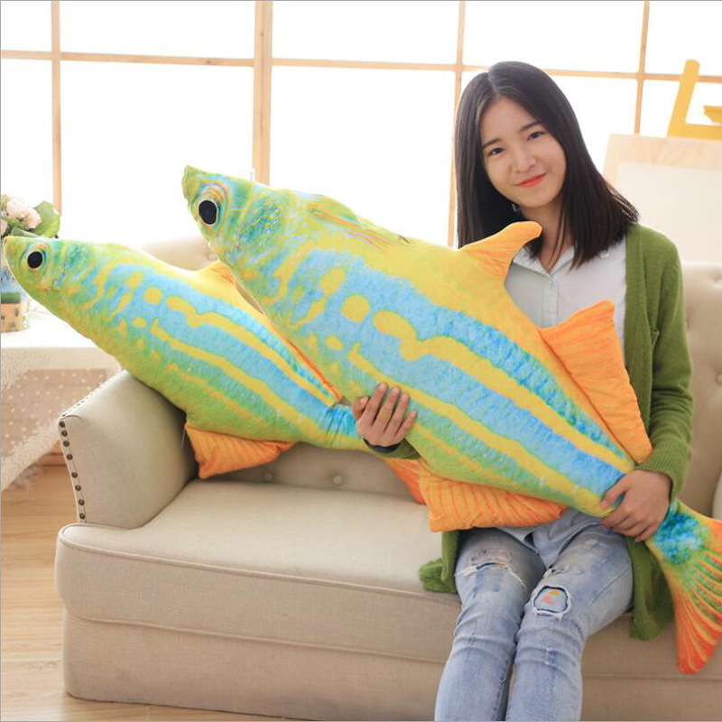 Deep Sea Tropical Fish Short Plush Toys Stuffed Animal Colored Fish Doll Plush Pillow Toy Children Kids Gifts in Stuffed Plush Animals from Toys Hobbies