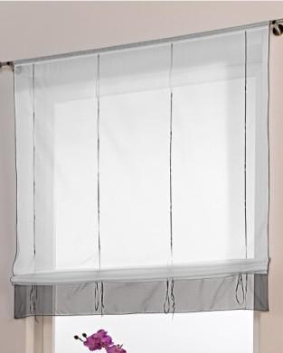 bolsillo de la barra de altura ajustable persianas romanas cortinas de tul pura moderna para la