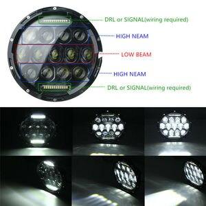 Image 4 - CO LIGHT 7 Round LED Headlights 75W 35W High Low Beam Halo Angle Eyes DRL For Jeep Wrangler JK JL TJ LJ CJ Land Rover 12V 24V