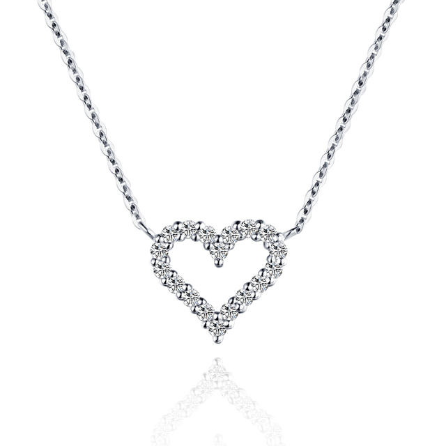 18k gold and white gold heart shaped diamond necklace color gold 18k gold and white gold heart shaped diamond necklace color gold group set diamond pendant mozeypictures Images